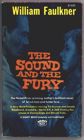 FURY THE FAULKNER WILLIAM SOUND THE AND